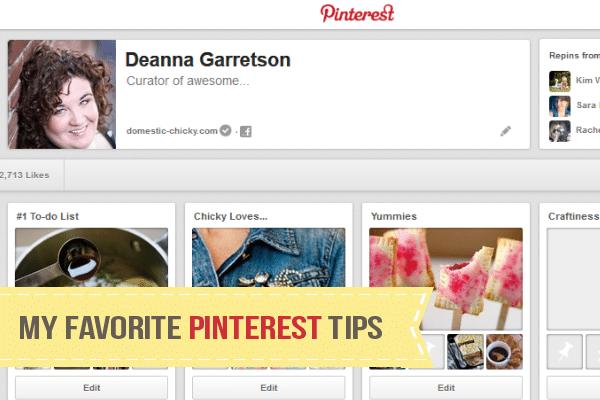 My Favorite Pinterest Tips